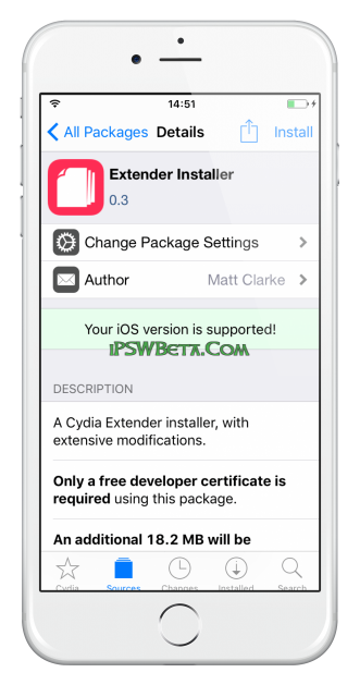 ext3nder installer ios 11