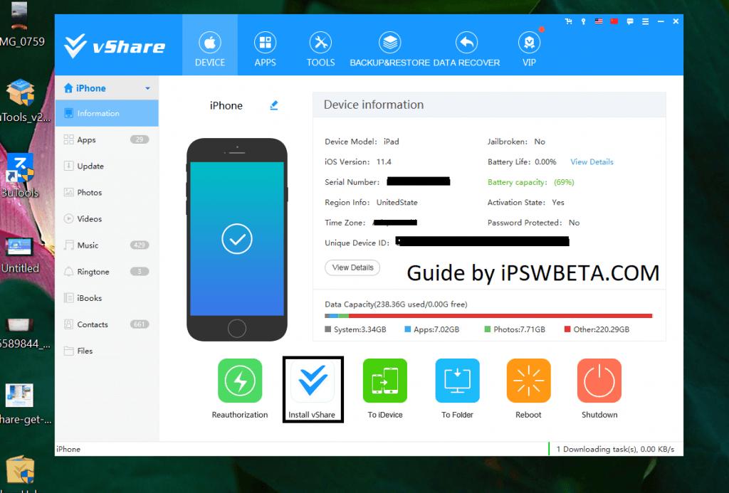 Install vShare on iOS 12
